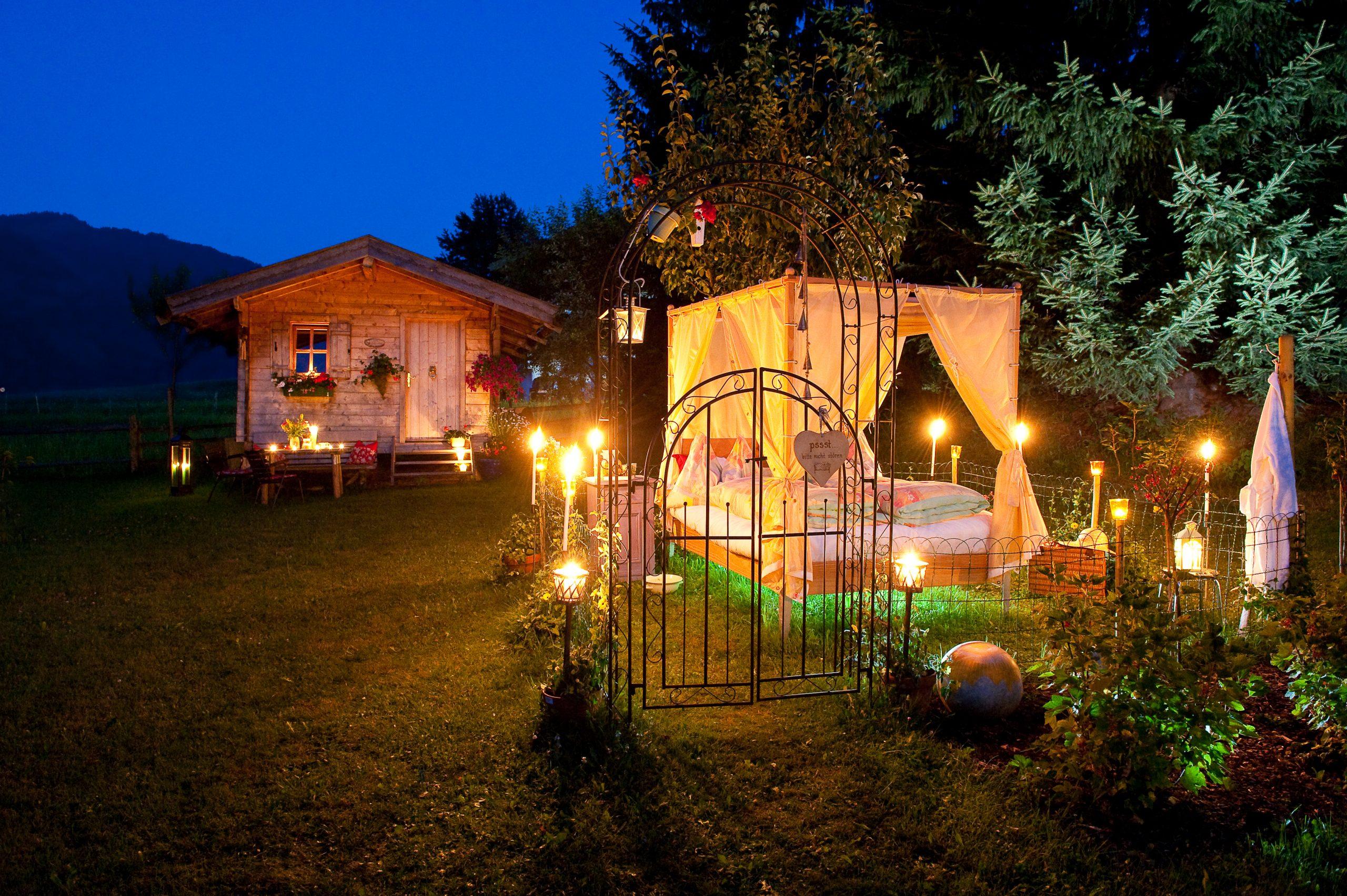 Garten-Himmelbett in der UnterbergerIn
