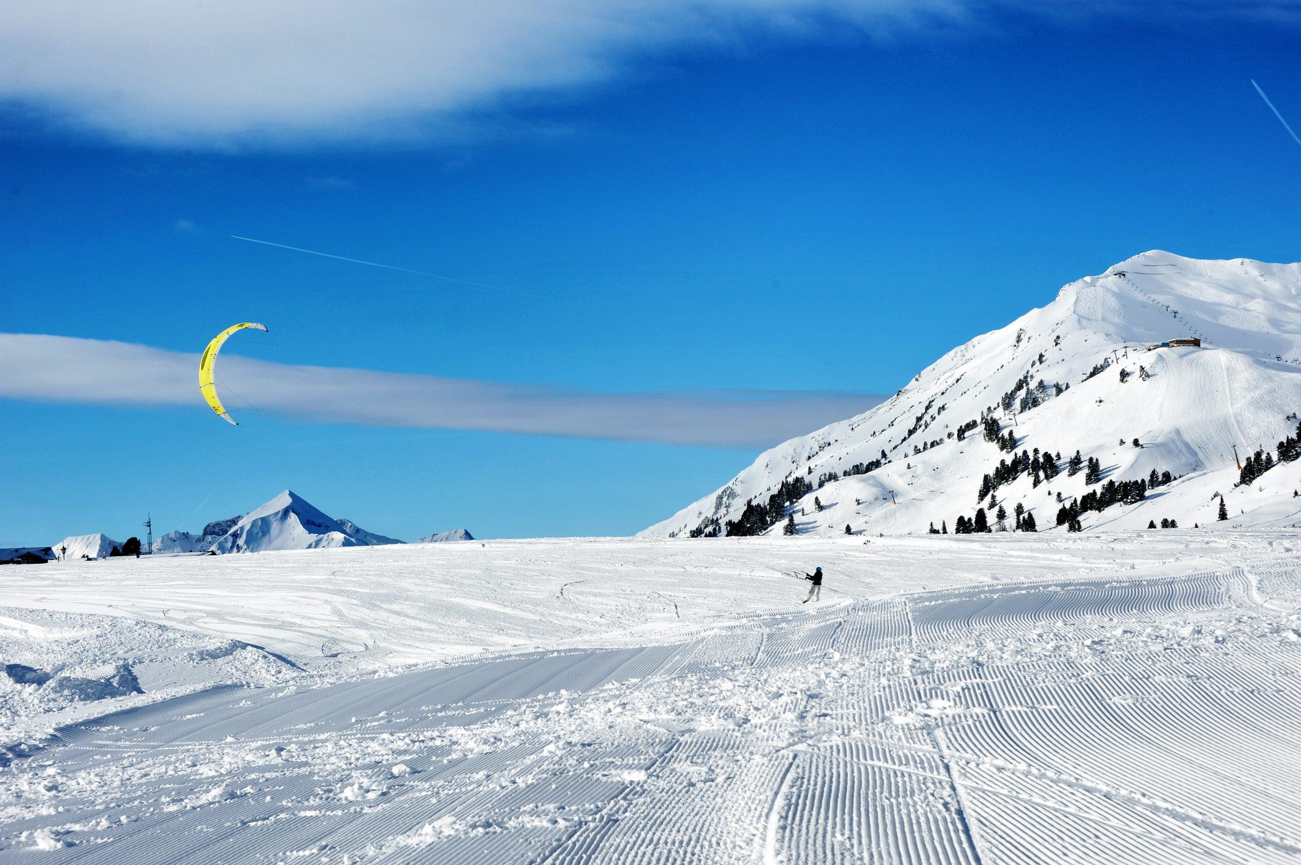 Snowkiten in Obertauern