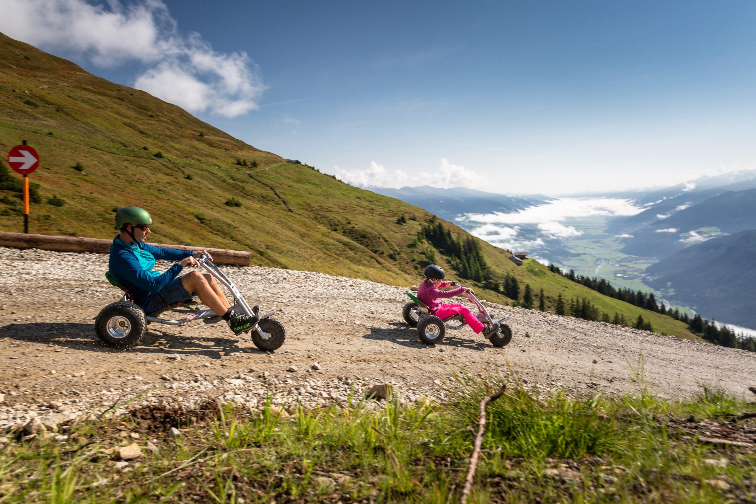 Mountaincart-Strecke am Wildkogel
